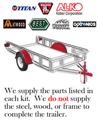 14,000 lb. Tandem Disc Brake Torsion Axle Trailer Kit