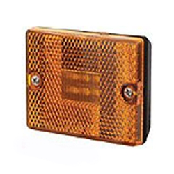 Amber Square LED Marker/Clearance Light