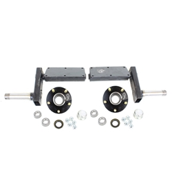 "935 lb. Torsion Half Axles with 5-4.5"" Bolt Circle Hubs"