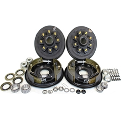 "8-6.5"" Bolt Circle 9/16"" Stud 4.75"" Center Bore 7k Trailer Axle Electric Brake Kit for 17.5"" Wheels"