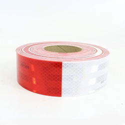 3M™ Diamond Grade™ Conspicuity Marking Roll 983-32 (PN67533) Red/White, 2 in x 150 ft