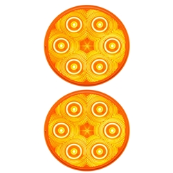 "FLEET Count™ 4"" Round Sealed Amber Parking/Rear Turn Signal Pair"