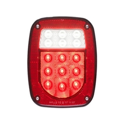 FLEET Count LED Red Combination Tail light 18 Diodes Driver Side w/3-LED license light