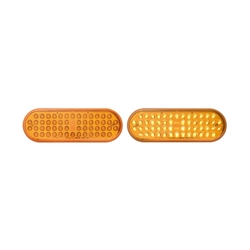 "6"" Oval Sealed LED Yellow Parking/Turn Signal (56 Diodes)"