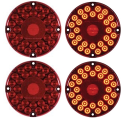 "7"" Round LED Transit Light (Red) Pair"
