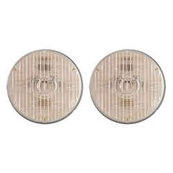 "Clear lens Amber 2.5"" Round PC-Rated LED Marker/Clearance Light Pair"