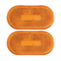 Amber Surface Mount LED Marker/ Clearance Lights with Reflex Pair
