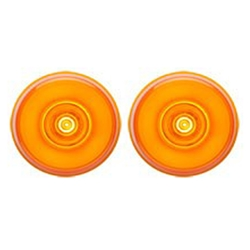 "Amber GloLight™ 2"" Round Sealed LED Marker/Clearance Light Pair"