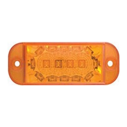 Amber LED Intermediate Side Marker Light with Supplemental Mid-Ship Turn