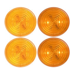 "FLEET Count™ 2.5"" Round Sealed Amber LED Marker/Clearance Light Pair"