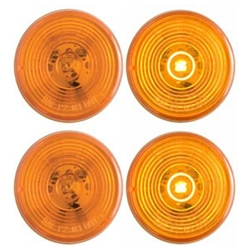 "FLEET Count™ 2"" Round Sealed Amber LED Marker/Clearance Light Pair"