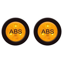 "2"" Round Sealed 3-LED ABS Marker/Clearance Light Pair"