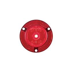 "2"" Red Round Sealed 7-LED Flange Mount Marker/Clearance Light with Reflex"