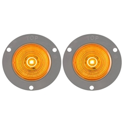 "FLEET Count™ 2"" Flange Mount Amber LED Marker/Clearance Light Pair"