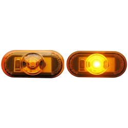 1-LED Mini Amber Oval Marker/Clearance Light