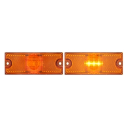 Amber LED SURFACE MOUNT MARKER/CLEARANCE LIGHT WITH REFLEX