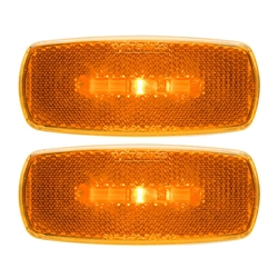 Amber LED Marker/Clearance Lights With  Reflex Pair