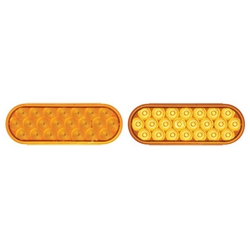 "6"" Oval Sealed LED Warning Lamp Function 1 Pair"