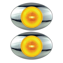 "GloLight Millennium Series 3"" Sealed LED Marker/Clearance Light Amber Pair"