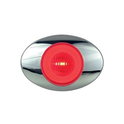 "GloLight Millennium Series 3"" Sealed LED Marker/Clearance Light Red"