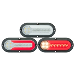 "FUSION ™  GloLight ®  25-LED 6"" Surface  Mount Stop/Turn/Tail/Back-Up Light"
