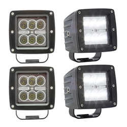 6-LED post mount flood light Pair
