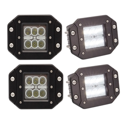 6-LED recess flange mount flood light Pair
