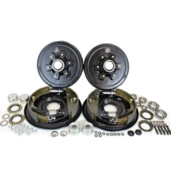 "6-5.5"" Bolt Circle 5,200 lbs. Trailer Axle Hydraulic Brake Kit With Timken Bearings"