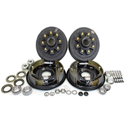 "8-6.5"" Bolt Circle 9/16"" Stud 4.75"" Center Bore 7k Trailer Axle Hydraulic Brake Kit for 17.5"" Wheels With Timken Bearings"