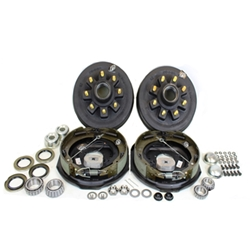 "8-6.5"" Bolt Circle 9/16"" Stud 4.75"" Center Bore 7k Axle Self Adj Electric Brake Kit for 17.5"" Wheels With Timken Bearings"