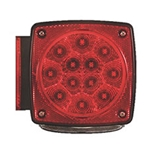 "Miro-Flex Universal Stud-Mount Under 80"" Combination LED Driver Side Tail Light w/ License Light"