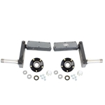 "Adjustable 550 lb. Torsion Half Axles with 5-4.5"" Bolt Circle Hubs"