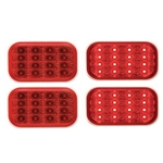 Miro-Flex Rectangular LED Stop/Turn/Tail Light (Red) Pair