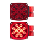 "Waterproof LED Combination Tail Lights for Over 80"" Applications Driver Side"