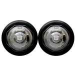 "Clear Lens Uni-Lite™ 3/4"" Red LED Non-Directional Marker/Clearance Light Pair"