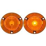 "2"" Amber Round Marker/Clearance Light With Locking Clip"