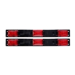 Red Sealed 3-Piece LED Identification Light Bar (9 Diode) Pair
