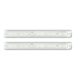 "Clear Lens Red Ultrathin LED Identification Light Bar for Over 80"" Applications Pair"