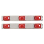 "Red Sealed LED Identification Light Bar for Over 80"" Applications Pair"