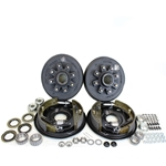 "8-6.5"" Bolt Circle 7,000 lbs. Trailer Axle Hydraulic Brake Kit With Timken Bearings"